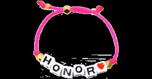 Personalized<br />  Silk Charm Bracelet